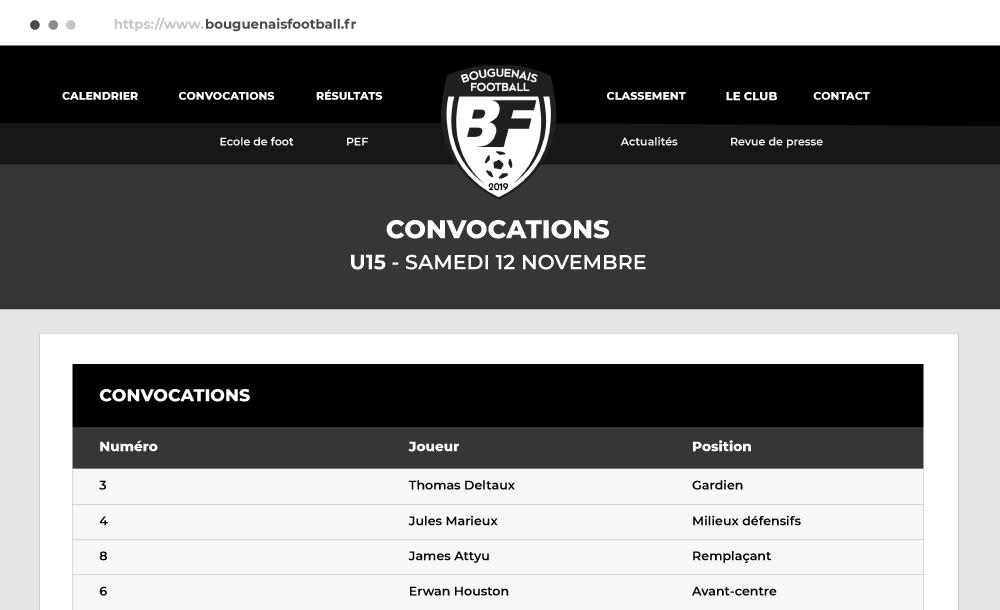 site web club de foot