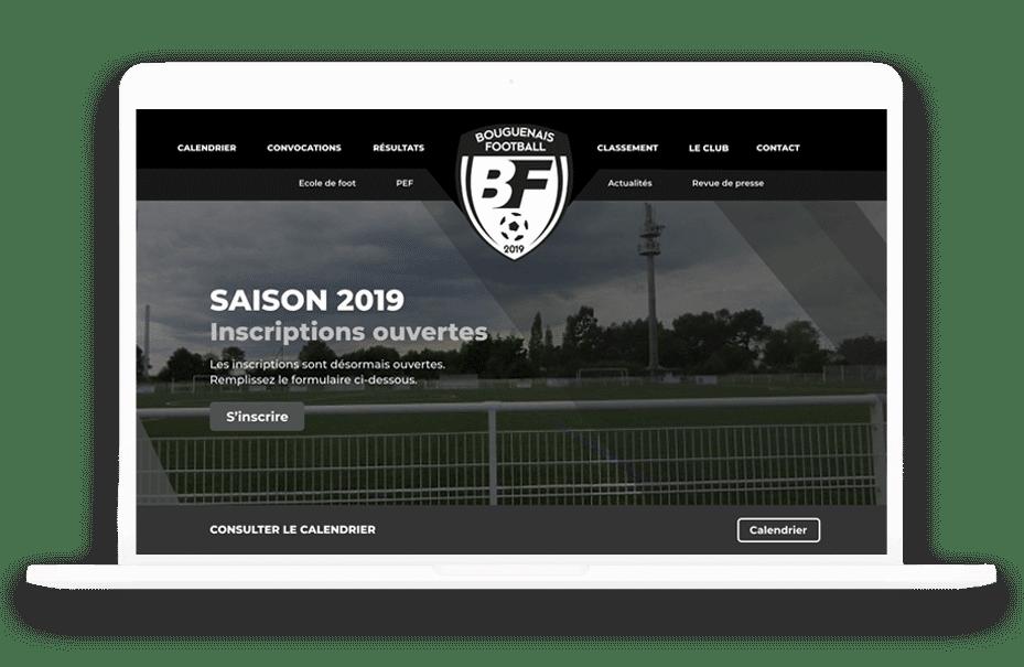 site internet bouguenais football